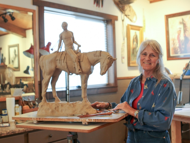 Western, Ranch and Native American Sculpture by Linda Egle